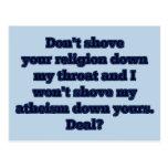 Religión CONTRA el ateísmo, parte 2 Postales