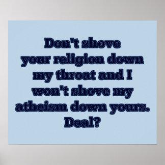 Religión CONTRA el ateísmo, parte 2 Póster