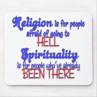 Religión CONTRA espiritualidad Tapetes De Raton