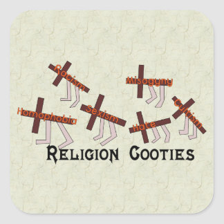 Religion Cooties Square Sticker