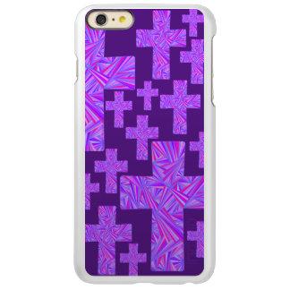 Religión cristiana cruzada púrpura de la fe del