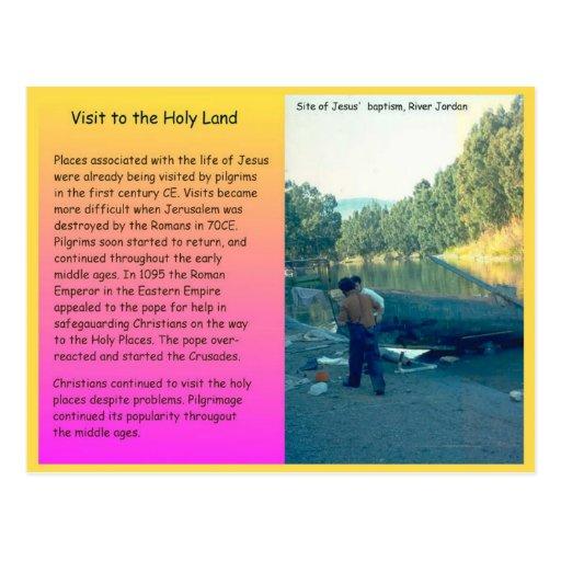 Religión, cristianismo, visitando la Tierra Santa Tarjetas Postales