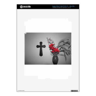 Religion cross flowers iPad 3 skins