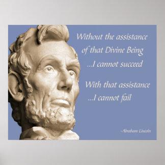 Religión de Abraham Lincoln Póster