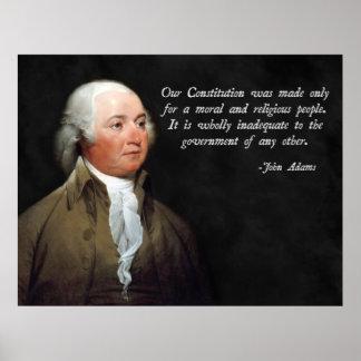 Religión de John Adams Póster