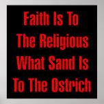 Religión de la avestruz posters