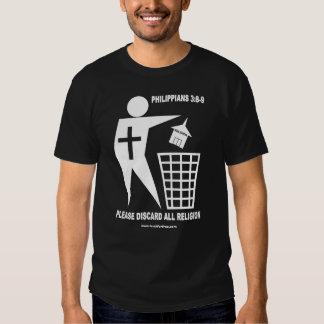 Religión de la basura (camisa oscura) playera