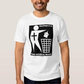 Religión de la basura (logotipo negro en la camisa