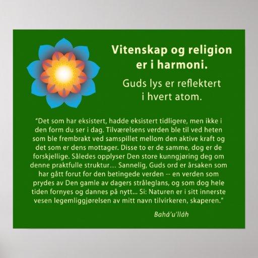 Religión de la ciencia de la armonía (noruega) poster
