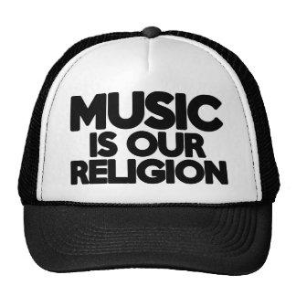 Religión de la música gorras de camionero