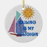Religión de la navegación ornaments para arbol de navidad