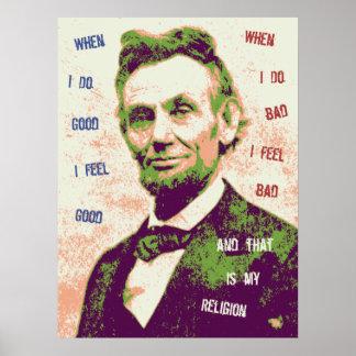 Religión de Lincoln Posters