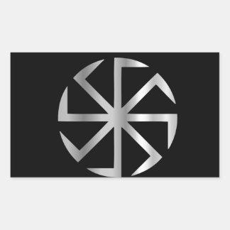 Religión de Slavik el símbolo de Kolovrat Pegatina Rectangular