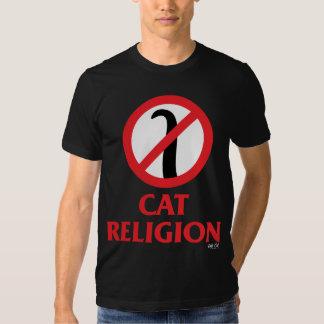 Religión del gato camisas