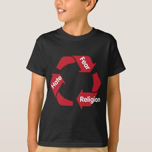Religión del miedo del odio playera