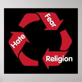 Religión del miedo del odio póster