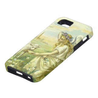Religión del vintage, ángel de Pascua del iPhone 5 Carcasas