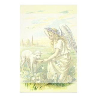 Religión del vintage, ángel de Pascua del Papeleria De Diseño