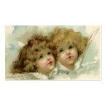 Religión del vintage, ángeles del navidad del tarjetas de visita