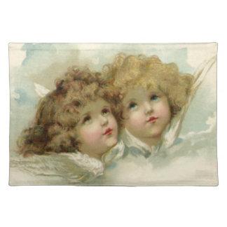 Religión del vintage, ángeles del Victorian en Mantel Individual