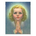 Religión del vintage, halo de rogación del niño invitaciones personales