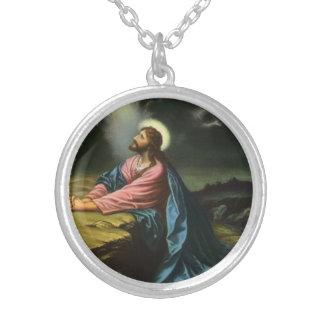 Religión del vintage, Jesucristo que ruega, Pendiente Personalizado