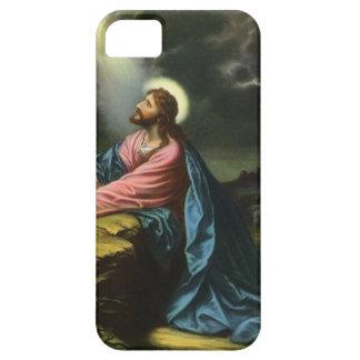 Religión del vintage Jesucristo que ruega Gethse iPhone 5 Fundas