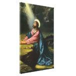 Religión del vintage, Jesucristo que ruega, Gethse Impresiones En Lona