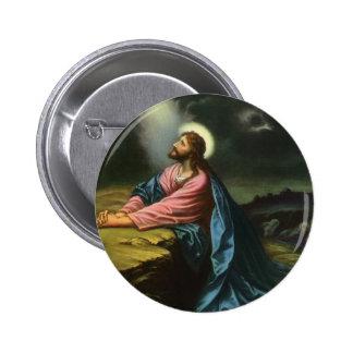 Religión del vintage Jesucristo que ruega Gethse Pin
