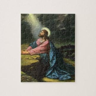 Religión del vintage Jesucristo que ruega Gethse Rompecabeza Con Fotos