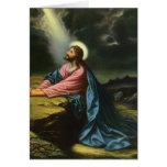 Religión del vintage, Jesucristo que ruega, Gethse Felicitaciones