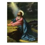 Religión del vintage, Jesucristo que ruega, Gethse Postal