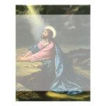 Religión del vintage, Jesucristo que ruega, Membrete A Diseño