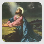 Religión del vintage, Jesucristo que ruega, Colcomanias Cuadradas
