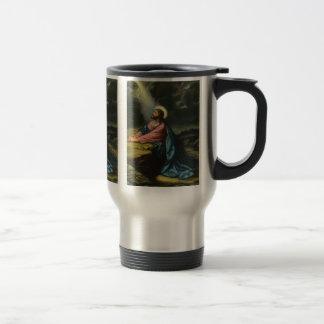 Religión del vintage, Jesucristo que ruega, Taza De Café