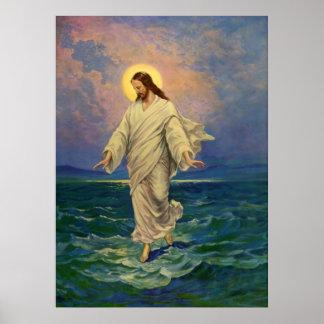 Religión del vintage, Jesús que camina en el Poster