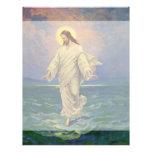 Religión del vintage, Jesús que camina en el retra Membrete A Diseño