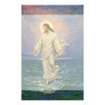 Religión del vintage, Jesús que camina en el retra Papeleria De Diseño