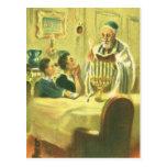 Religión del vintage, judaísmo, encendiendo el postal