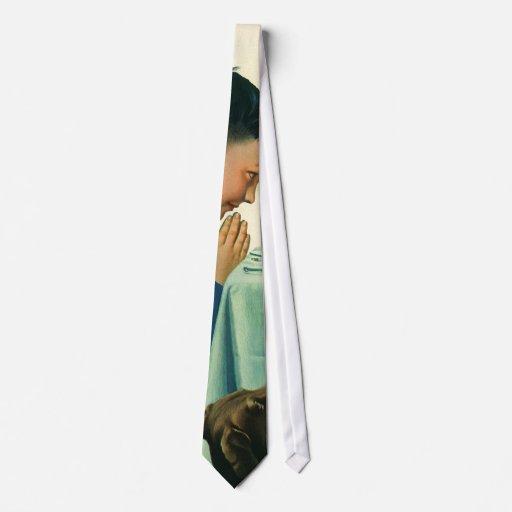 Religión del vintage, muchacho que dice tolerancia corbata personalizada