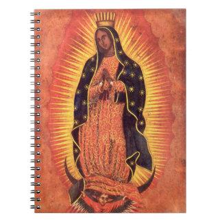 Religión del vintage, señora de Guadalupe, Virgen Libreta Espiral