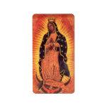 Religión del vintage, señora de Guadalupe, Virgen  Etiquetas De Dirección