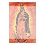 Religión del vintage, señora de Guadalupe, Virgen Papelería Personalizada