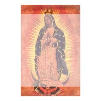 Religión del vintage, señora de Guadalupe, Virgen Papeleria Personalizada
