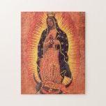 Religión del vintage, señora de Guadalupe, Virgen  Puzzle