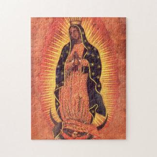 Religión del vintage señora de Guadalupe Virgen Puzzle
