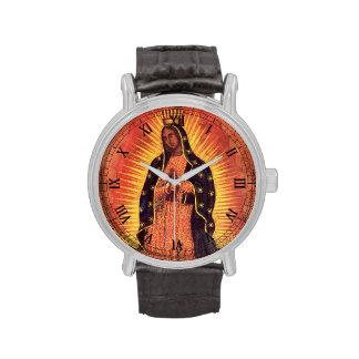 Religión del vintage, señora de Guadalupe, Virgen Relojes De Mano