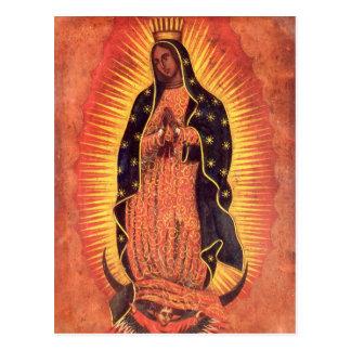 Religión del vintage, señora de Guadalupe, Virgen  Tarjeta Postal