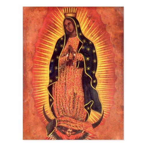 Religión del vintage, señora de Guadalupe, Virgen Postal