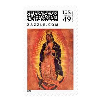 Religión del vintage, señora de Guadalupe, Virgen Timbres Postales